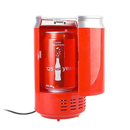 SXX Tragbare Mini-USB-Box De Cola Kühlschrank, warmes und kaltes Gefrierschrank Kühlbox, Laptop PC anschließbaren Auto Kühlschrank,Rot