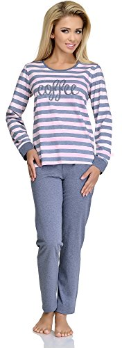 Merry Style Damen Schlafanzug 1023 (pink/grey, 36 (Herstellergröße: S))