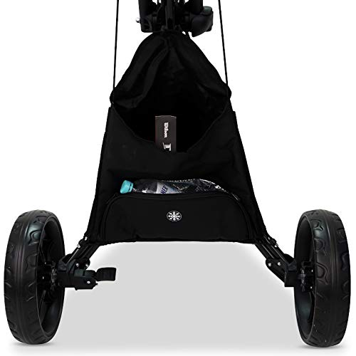 3-Rad Golf Push Trolley Tour Made RT-140 Pushtrolley Golftrolley 3-rad (schwarz) - 3