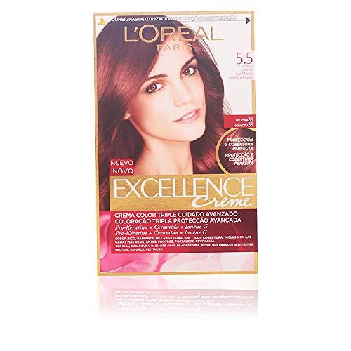 L\'óreal Excellence Creme #5,5 Haarfärbung, Farbe Mahogani Hellbraun - 300 gr