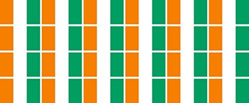 Mini Aufkleber Set - Pack glatt - 33x20mm - Sticker - Elfenbeinküste - Flagge - Banner - Standarte fürs Auto, Büro, zu Hause & die Schule - 24 Stück