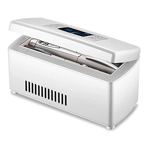 WDAA Enfriador de Insulina, Mini Refrigerador de Medicamentos para Automóvil, Viajes, Hogar - Estuche de Refrigeración Portátil para Automóvil/Caja de Viaje Pequeña para Medicamentos