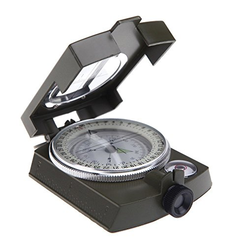 Generic Portable Camping Compass Military Army Geology Lensatic Prismatic Compass...