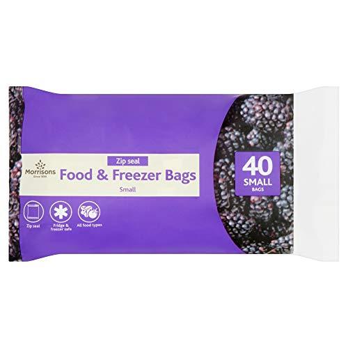 Morrisons - Bolsa para alimentos y congelador, 40 bolsas pequeñas