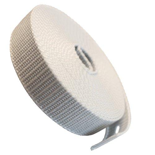 Gurtband 23mm Breite Farbe grau 5,5m-Rolle