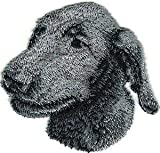 VirVenture 2 1/2' x 2 1/2' Irish Wolfhound Dog Breed Portrait Embroidery Patch Great for Hats, Backpacks, and Jackets.