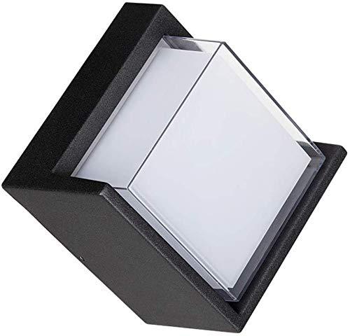 Beautiful Home Decoration Lampen wandlampen voor binnen, zwart, aluminium, moderne kunst, eenvoudige wand, LED-spot van metaal, 10 W, warm wit licht, hal, trap, warmwit