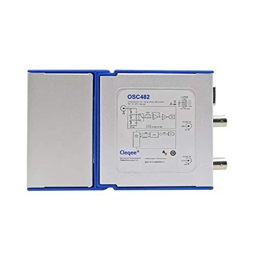 NO BRAND Osciloscopio Digital Digital portátil USB osciloscopio OSC482M PC Android 2.0 Virtual de 2 Canales de Ancho de Banda del osciloscopio (Color : Azul, tamaño : Un tamaño)