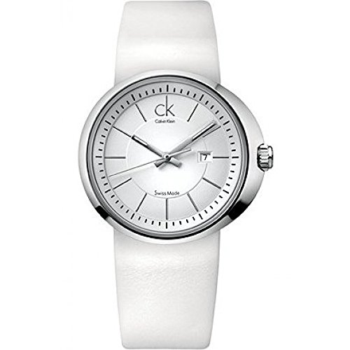 Calvin Klein Trust K0H23101 - Reloj de Mujer de Cuarzo, Correa de Piel Color Blanco