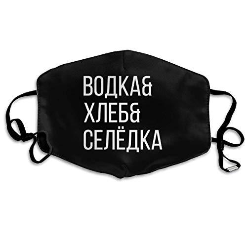 Russische wodka brood haring verstelbare ademende anti-stof wind mond masker