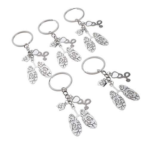 IPOTCH 5X Silbernen Mini Anhänger Tasche Schlüsselanhänger Fensterbehänge Medical Friends Geschenk