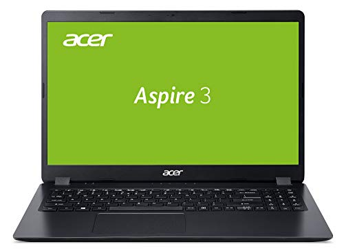 Acer Aspire 3 (A315-54K-34G9) 39,6 cm (15,6 Zoll Full-HD matt) Multimedia Laptop (Intel Core i3-7020U, 8 GB RAM, 256 GB PCIe SSD, Intel HD, Win 10 Home) schwarz