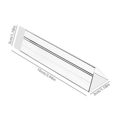 Prisma Kristall Dreieckiger optischer Refraktor 5 cm / 10 cm / 15 cm mit Geschenkbox Kristallprisma zum Unterrichten von Lichtspektrumphysik, Kristalllichtprisma, Kristallprisma und Fotografie