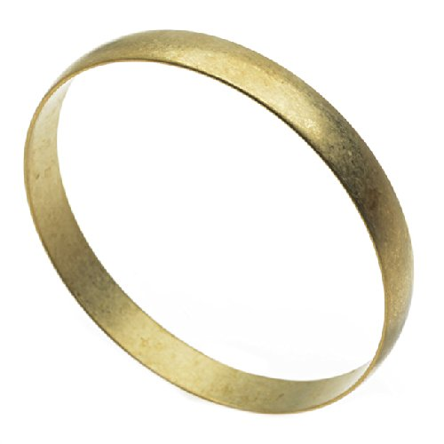 Beadaholique Solid Brass Bangle, Round Domed Bracelet 9.5mm (3/8 Inch)...