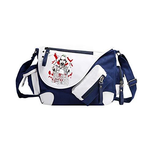 Suicide Squad School Bag Mochila de Colegio de Estilo Salvaje Bolso Mensajero Anime Bolso periférico Bolsa de Viaje Mochila Suicide Squad Mochila Impermeable (Color : A02, Size : 36 X 11 X 26cm)