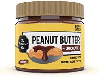 The Butternut Co. Peanut Butter Chocolate, Crunchy 340 gm (No Refined Sugar, High Protein, 100% Natural)