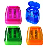 Best Manual Pencil Sharpeners - Manual Pencil Sharpeners, 4PCS Colorful Compact Dual Holes Review