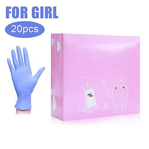 Deyan Wegwerphandschoenen, 20 stuks/doos, nitrilhandschoenen, kinderbeschermingshandschoenen, multifunctionele werkhandschoenen voor huishoudelijk schoonmaken, werkkleding
