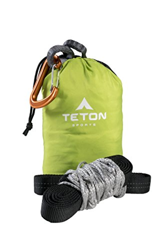 TETON Sports Rover Rope Tree Sling; Quick and Easy Setup; Hammock Straps Fit All Backpacking Hammocks; Heavy-Duty, Looped Tree Sling Means No Messing with Knots While You're Camping, Black