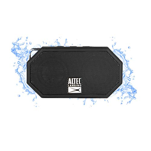 Altec Lansing® IMW257-BLK Mini H2O - Altavoz Bluetooth Impermeable, IMW257-BLK, Negro, 2.00 x 4.50 x 5.00 Inches