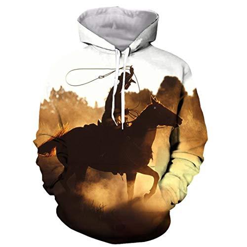 Divertido Rodeo Taurino Matador 3D Imprimir Hombres Mujeres Camiseta T/Camisas/Sudaderas/Chaleco/Tops Hoodie L