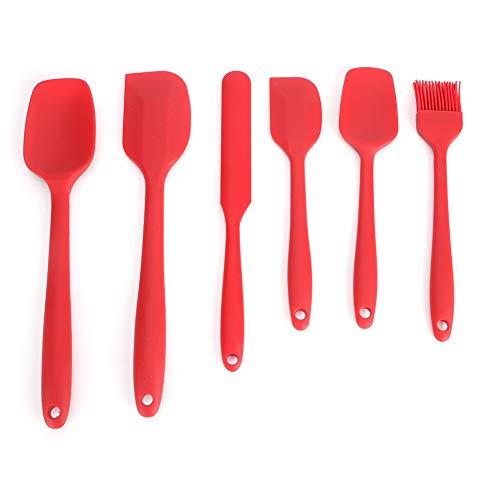 ROSEBEAR Cocina Cocina Herramientas para Hornear Espátula de Silicona Espátula de Silicona Espátula de Mantequilla Espátula Espátula Ideal para Panadería de Cocina. (Rojo 6Pcs / Set)