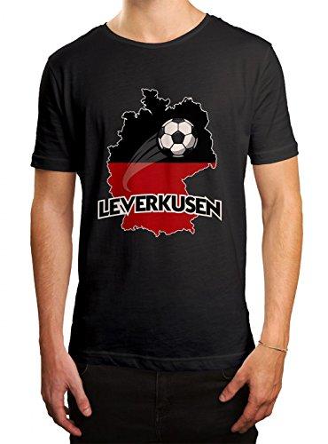 Leverkusen #2 Premium T-Shirt | Fussball | Fan-Trikot | #Jeden-Verdammten-Samstag | Herren | Shirt, Farbe:Schwarz (Deep Black L190);Größe:S