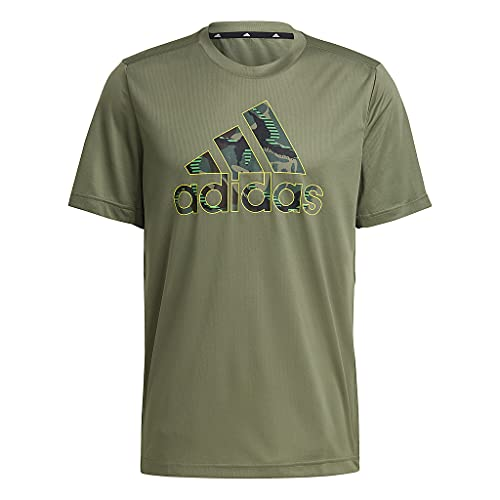 adidas M Camo Gt2 T-Shirt für Herren, Herren, Unterhemd, GM2111, grün, XXL