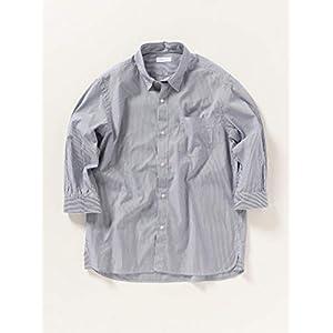 [シップスエニィ メンズ] シャツ ストライプ レギュラーカラー メンズ 7分袖シャツ 711310001 ブルー 青 M