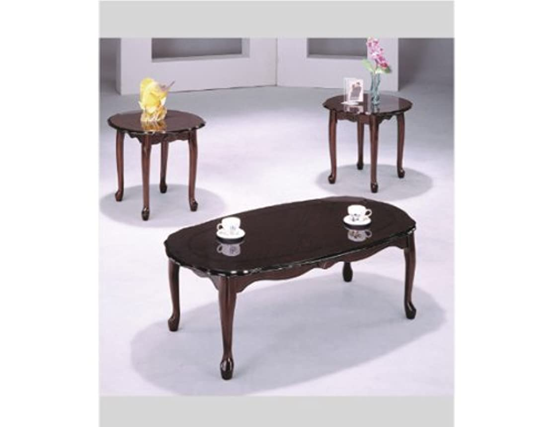HP Queen Anne Cherry Cocktail Table Set,3-pc Pack #AD 4124a