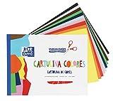 Bloc de Cartulinas de Colores Oxford 10 Hojas en 10 colores surtidos encoladas. Cartulina de 170gr.