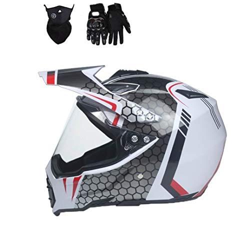Casco de Moto con protección Solar Hombre Full Face Off Road Viseras antiniebla Cascos de Moto para Motocross en Todas Las Estaciones