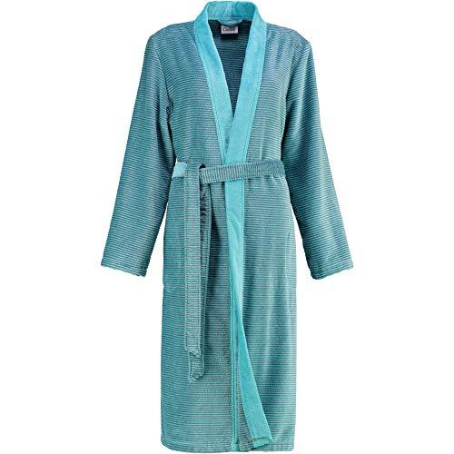 Cawö Damen Bademantel Saunamantel Kimono Form türkis Gr. 38