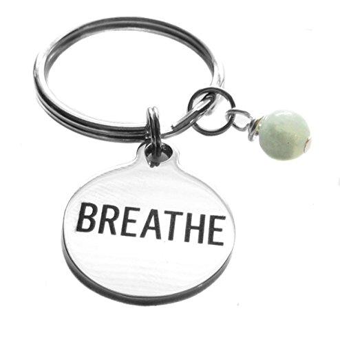 Breathe Yoga Reiki Breath Work Throat Chakra 5th Chakra Key Chain
