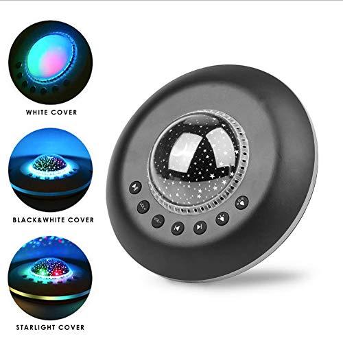 Baby Slaap Witte Ruismachine USB Aangedreven Timed Slaap Geluidmachine met Sterren Projector Nachtlampje 3-in-1 Multifunctie