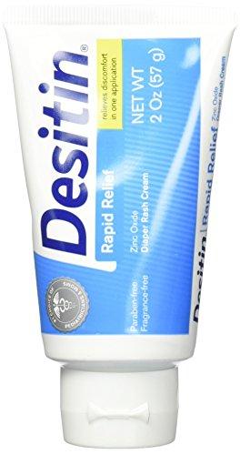 Price comparison product image Desitin Rapid Relief Creamy Zinc Oxide Diaper Rash Cream,  2 Count