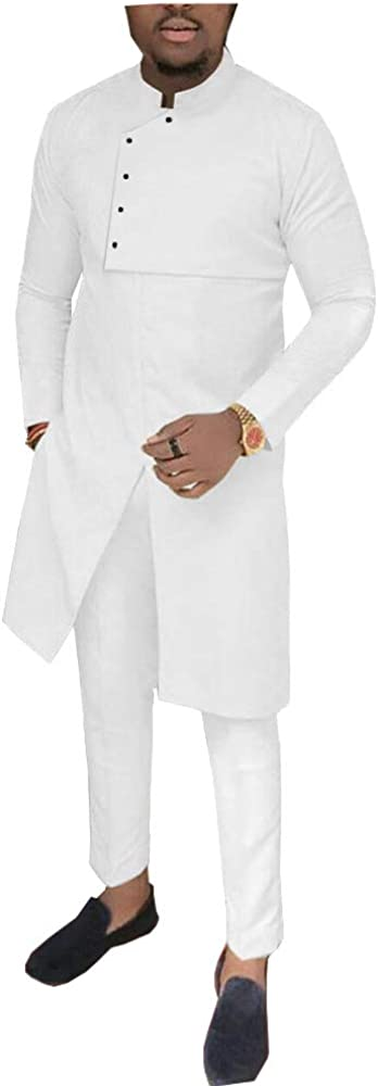 African Men Clothing 2 Piece Set Dashiki Coats Jacket+ Ankara Pants Suit Tribal Tracksuit Pocket