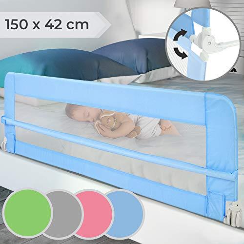 Infantastic Bettgitter klappbar - Farbwahl, Größe: 150/42cm, einfache Montage, passend für Kinderbetten, Elternbetten - Bettschutzgitter, Kinderbettgitter, Babybettgitter, Gitter, Rausfallschutz