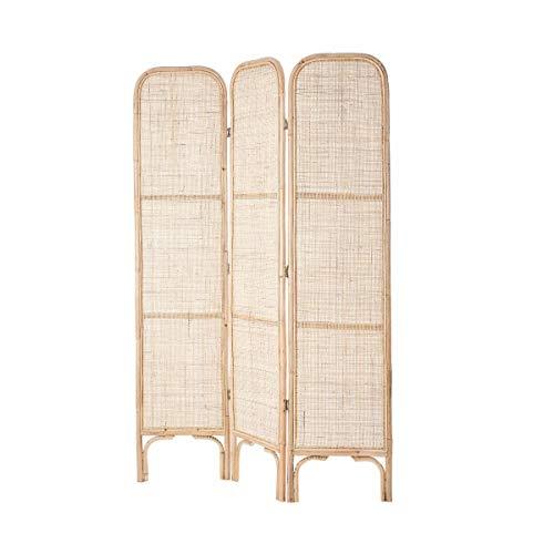 Butlers Boho Lounge Paravent aus Rattan L 120 x H 180cm