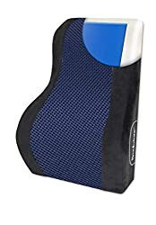 in budget affordable Brookstone Automotive Contoured Lumbar Support Pillow + Cooling Gel