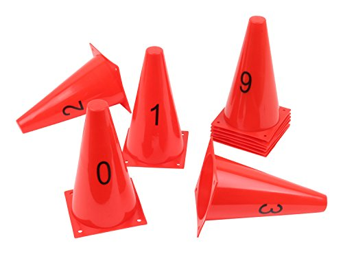 Vinex 10 Hütchen im Set mit Zahlen von 0 bis 9