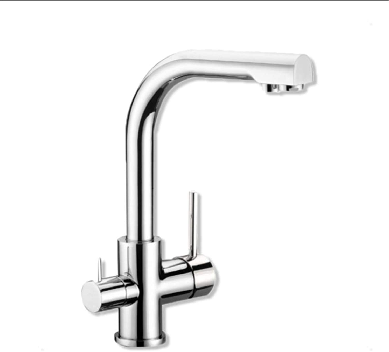 All Copper Kitchen Cold and hot Faucet wash Vegetable Basin Faucet Sink Water Nozzle Dual Purpose Kitchen Faucet