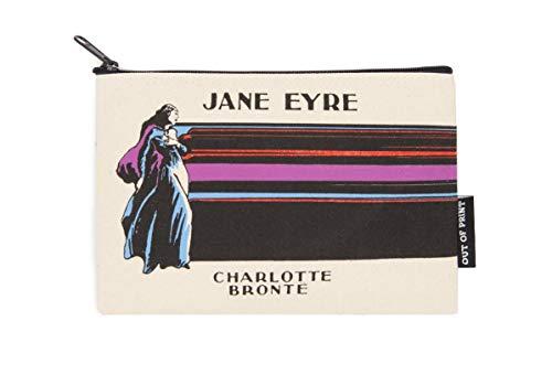 Bolsa com zíper com tema literário e livro para amantes de livros, leitores e bibliófilos, Jane Eyre, One Size