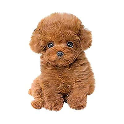 Wugona Realistic Teddy Dog Lucky - 100% Handmade Realistic Toy Dog - Cute & Vivid Stuffed Animal Puppy Dog - Lifelike Stuffed Interactive Pet Toy - The Best Gifts for Christmas or Birthday (Style A)