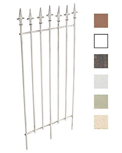 CLP Metall-Rankgitter Elisa I Größe: 100 x 50 cm, Stabstärke 0,7 cm I Rankhilfe für Kletterpflanzen I erhältlich Antik Weiß