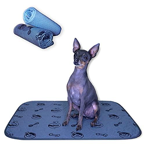 Extinum 2 Empapadores Perros Reutilizables Super Absorbentes, Toallitas de Entrenamiento para Mascotas, Alfombra Lavable para Pipi, Puppy Pads (M 45x60cm)