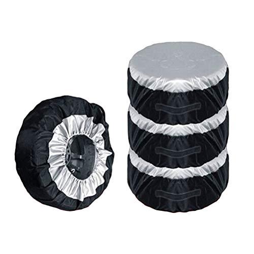 VOSAREA Reifentaschen Staubdichte Reifenabdeckung Radschutzhülle UV Schutz 65cm 4 Stück
