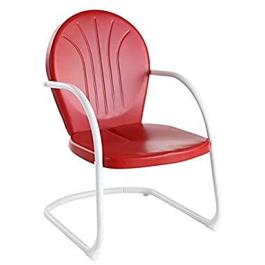 Crosley Furniture Griffith Metal Outdoor Chair - Red