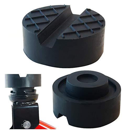 sarian 65x33mm Gummiauflage mit Waffeloberfläche und Nippel für Wagenheber Rangierwagenheber Gummiklotz universal für KFZ PKW SUV