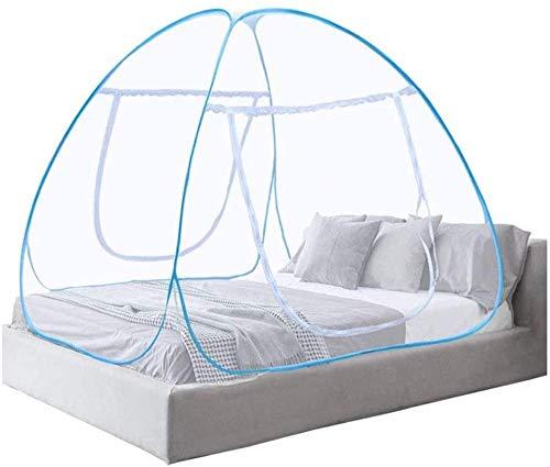 Mosquitera plegable de gran tamaño para entrada de yurtas, protección contra insectos, protección repelente de insectos, apto para viajes y acampadas, cama de 2 m